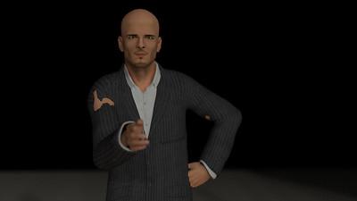 Business Man Scene Multiple Rigging (Corrected Textures) CGI Render 23