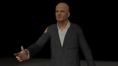 Business Man Scene Multiple Rigging (Corrected Textures) CGI Render 17