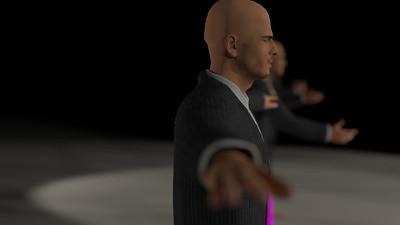 Business Man Scene Multiple Rigging (Corrected Textures) CGI Render 4