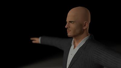 Business Man Scene Multiple Rigging (Corrected Textures) CGI Render 7