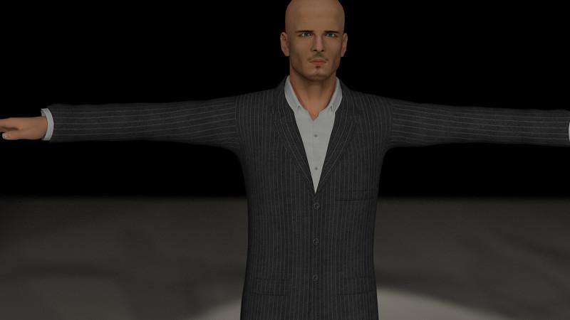 Business Man Scene Multiple Rigging (Corrected Textures) CGI Render 10