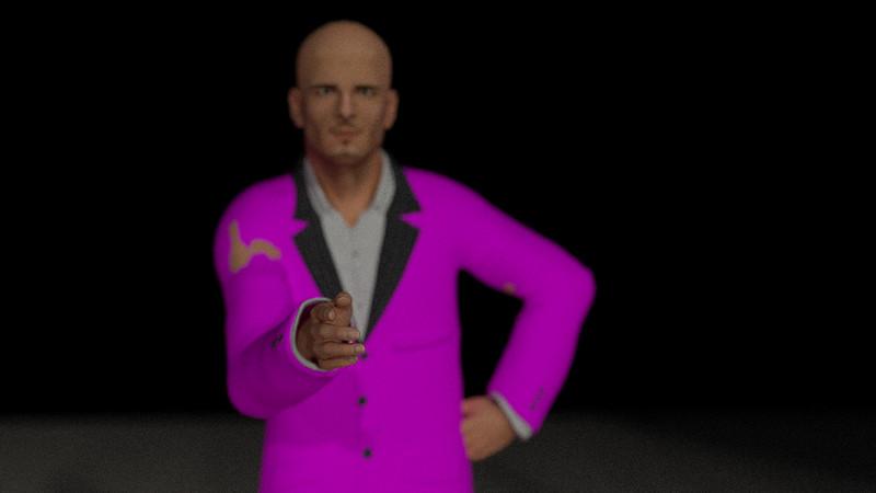 Business Man Scene Multiple Rigging (Missing Textures) CGI Render 24