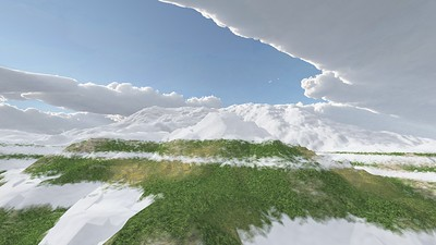 Ice Mountain 6 : A Computer Generated Image from Daily Animation