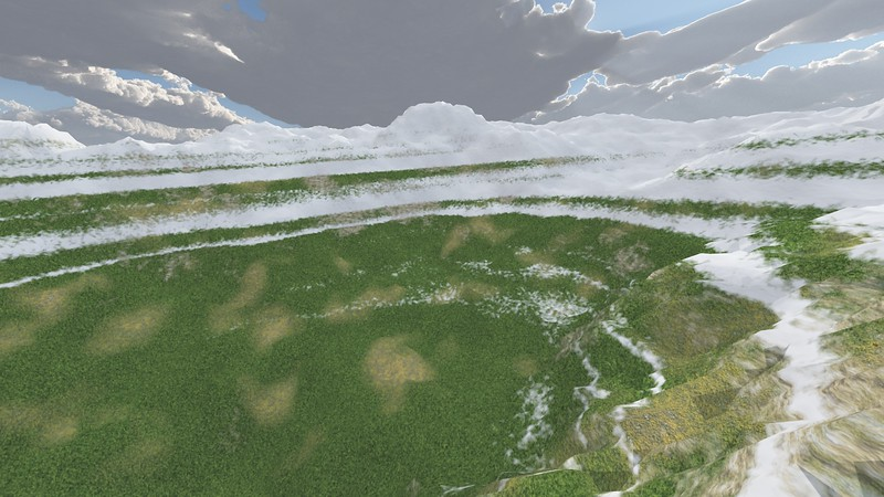 Ice Mountain 2 : A Computer Generated Image from Daily Animation