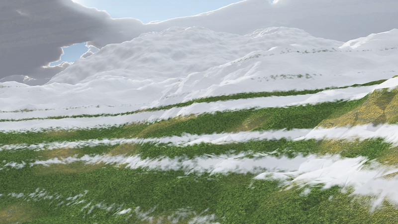 Ice Mountain 20 : A Computer Generated Image from Daily Animation