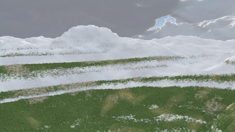 Ice Mountain 4 : A Computer Generated Image from Daily Animation