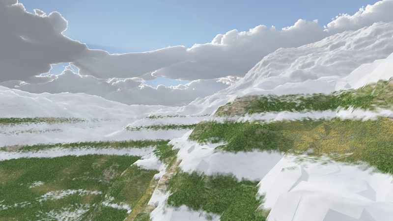 Ice Mountain 5 : A Computer Generated Image from Daily Animation