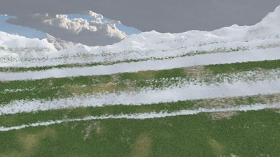 Ice Mountain 3 : A Computer Generated Image from Daily Animation