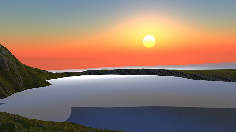 Sunset Archipelago CGI Render 17