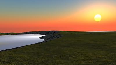 Sunset Archipelago CGI Render 14