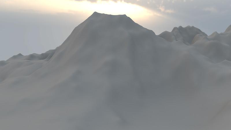 Winter Mountain CGI Render 2