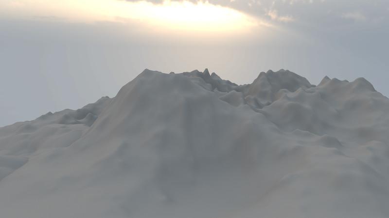 Winter Mountain CGI Render 1