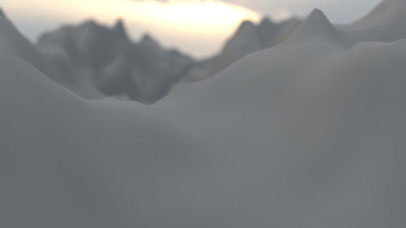 Winter Mountain CGI Render 6
