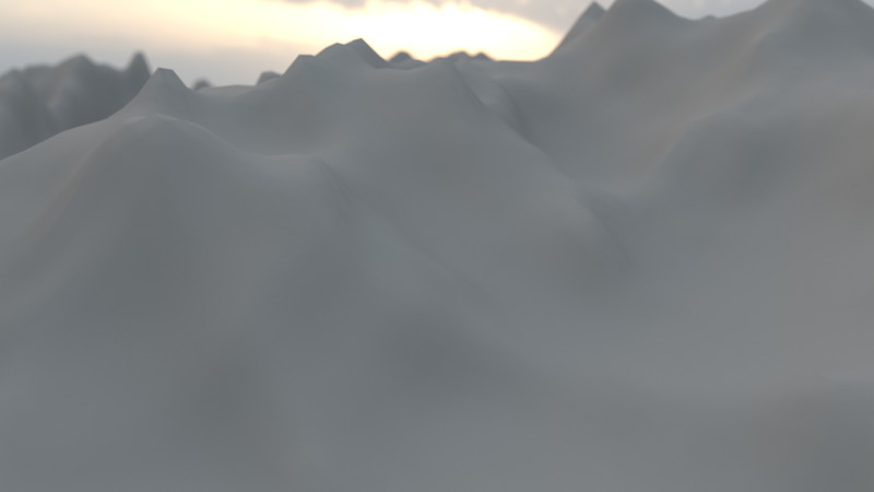 Winter Mountain CGI Render 5