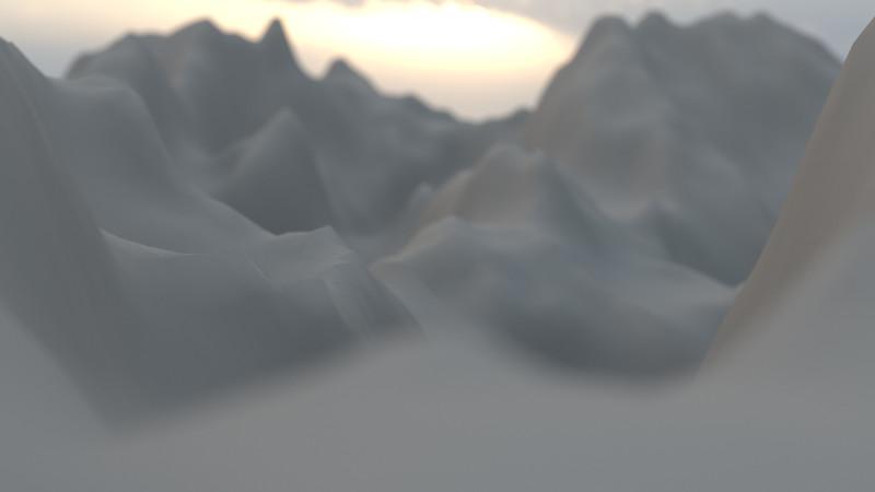 Winter Mountain CGI Render 7