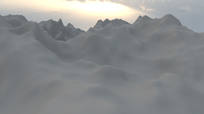 Winter Mountain CGI Render 4