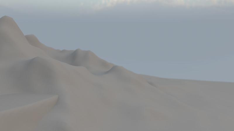 Winter Mountain CGI Render 17