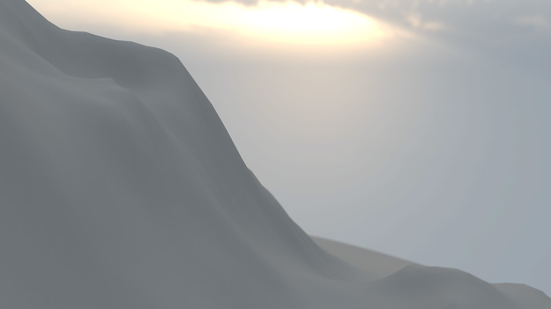 Winter Mountain CGI Render 12