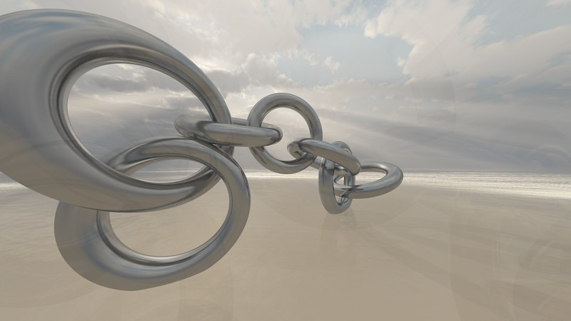 Linked Chain 7 : A Computer Generated Image from Daily Animation