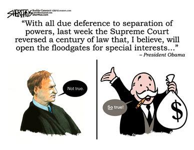 Feb. 1, 2010<br /> John Sherffius Editorial Cartoon<br /> Dailycamera.com, Boulder, CO