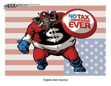 July 15, 2011<br /> John Sherffius Editorial Cartoon<br /> Dailycamera.com Boulder, CO