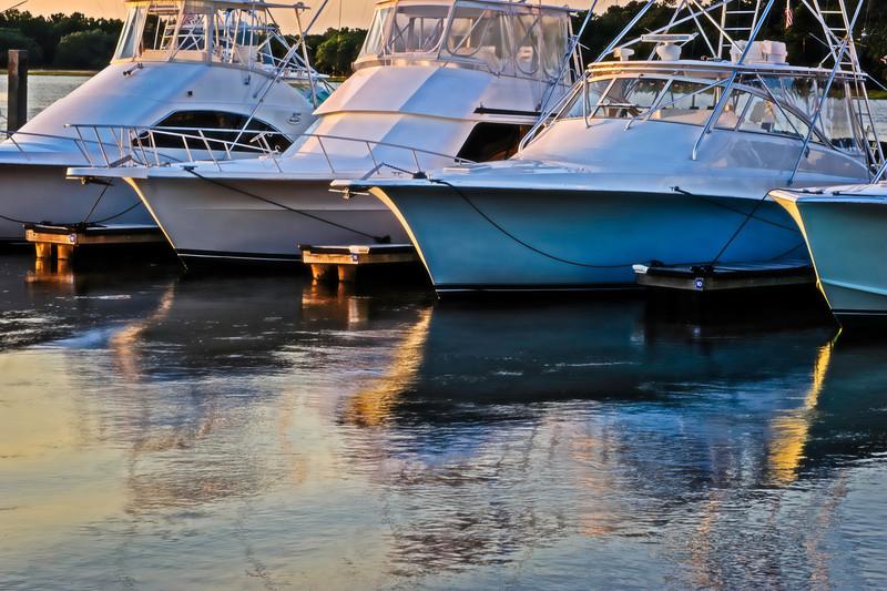 the marina near sunset, Seabrook Island, South Carolina