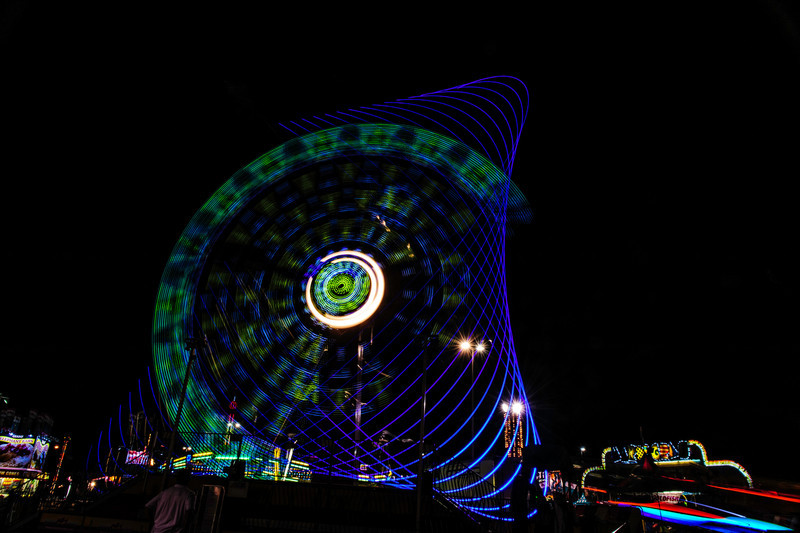 geometric light painting <p></p> a long exposure image made at the Alabama State Fair