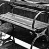 street bench after a rain