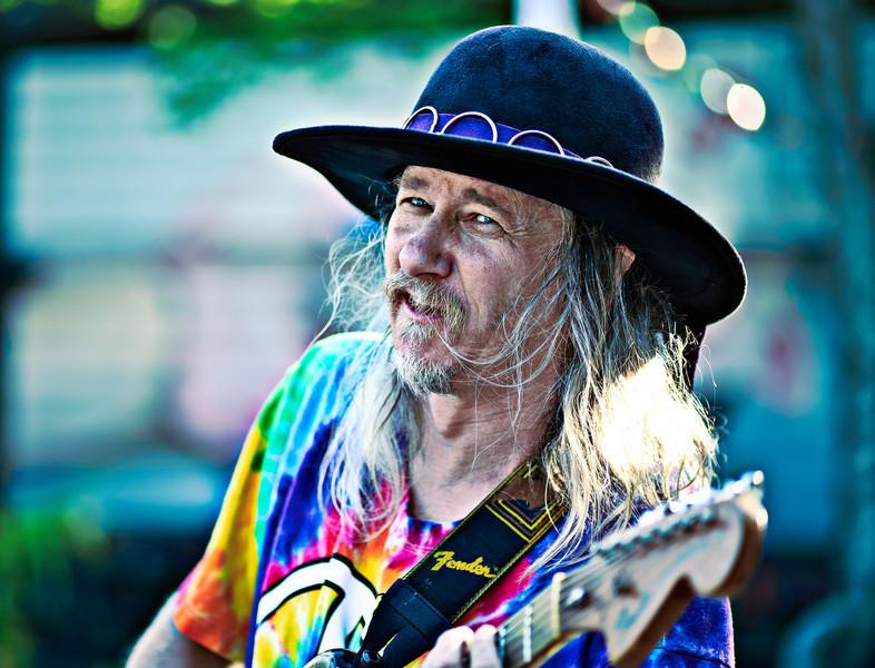 guitar man on the street in Little 5 Points, Atlanta, GA