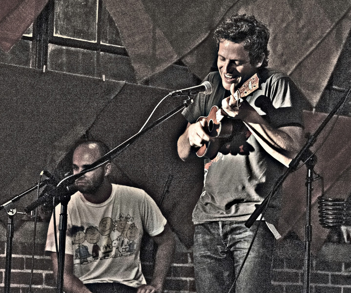 """Korby Lenker performing """"My Little Life"""" at Red Cat Coffee House in Birmingham, AL (6/9/2011) <p></p> Photo shot at ISO 6400 in available light"""