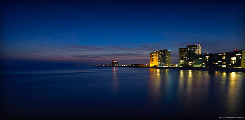 Navarre Beach, FL at dusk from the pier