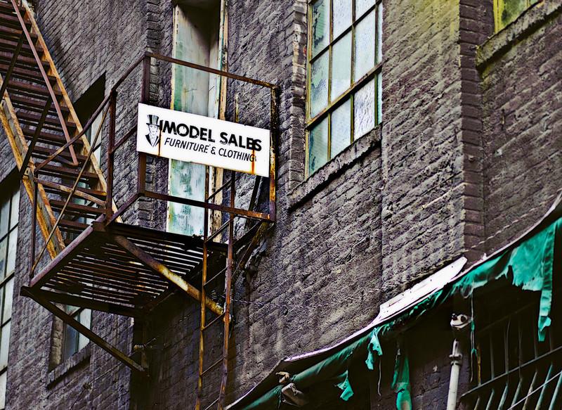 model sales, shot in an alley on the northside of Birmingham, Alabama