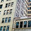 building blocks, photograph made in downtown Birmingham, AL
