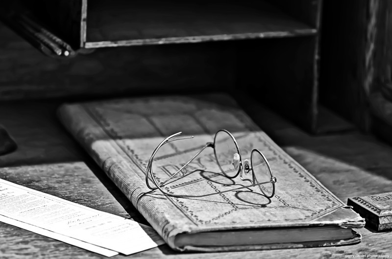 the day book and glasses