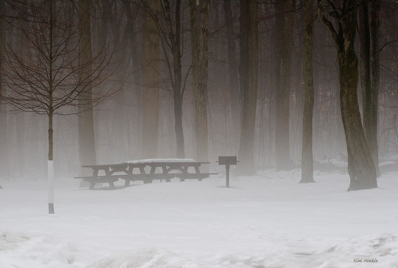 "March 10th<br /> <br /> WAITING FOR SPRING<br /> <br /> Today started out rainy! With temps rising... The snow IS melting..and  there were blankets of fog everywhere.  Here, in the Cleveland Metroparks, the grills stand ready for hot dogs and burgers, and  there is quiet anticipation of picnics and family outings to come!<br /> <br /> Alternate for today :<br /> <a href=""http://mom4squirrels.smugmug.com/gallery/1855637#134954931"">http://mom4squirrels.smugmug.com/gallery/1855637#134954931</a>"