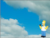 12/18/08<br /> <br /> THE SIMPSONS...DOH!<br /> <br /> Ok, we saw this cloud formation the other day and thought about The Simpsons...so here's Homer on cloud 9 with his doughnut!
