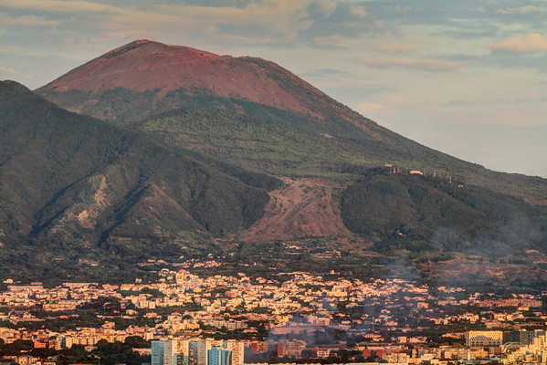 Mount Vesuvius and Naples