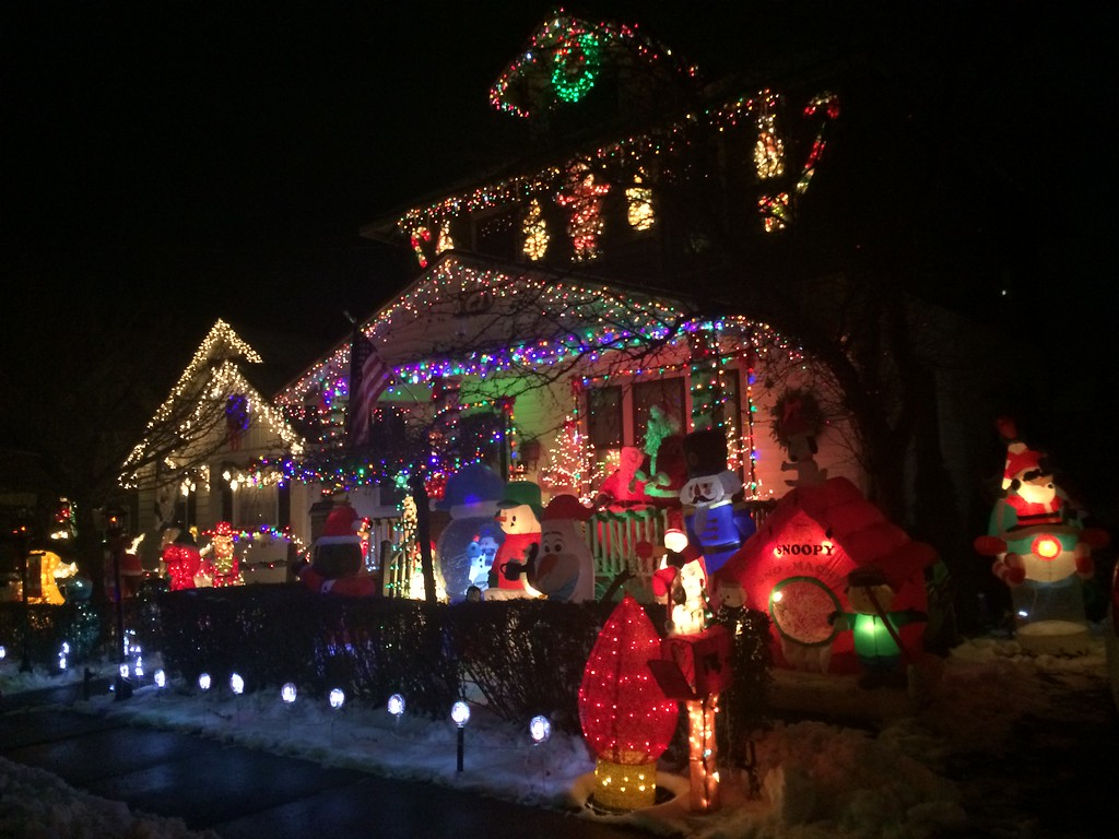 """. Waite\'s Wonderland, home of Larry and Alice Waite. Larry is responsible for the decorations. Nominated by Alice, and Isabella and Ethan Sharot and wife Mimi Waite. \""""Our Poppy does a great job every year,\"""" they write. Photo by  Ivan Lajara."""
