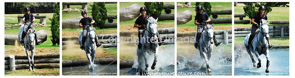 Theme: Humor<br /> I love this series of shots and the humor the rider had when her horse LEAPED off the bank into the water (he had a sense of humor, too!).<br /> Ocala, FL 2013