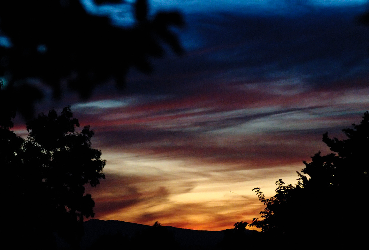 Just another sunset. LOL<br /> <br /> Looks like a painting. The best colors yet. NM has provided many, many, great sunsets. Must be all the desert dirt floating in the air.