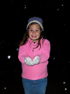 December 4, 2009 - We got snow here in South  Louisiana! Which is a big deal for us since it is very rare here.  We got only a third of an inch and nothing stuck to the ground, but was able to get a few shots of my daughter in it.  She was sooo excited!!