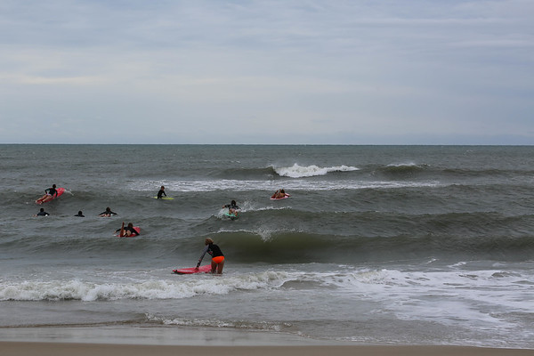 The paddle out...