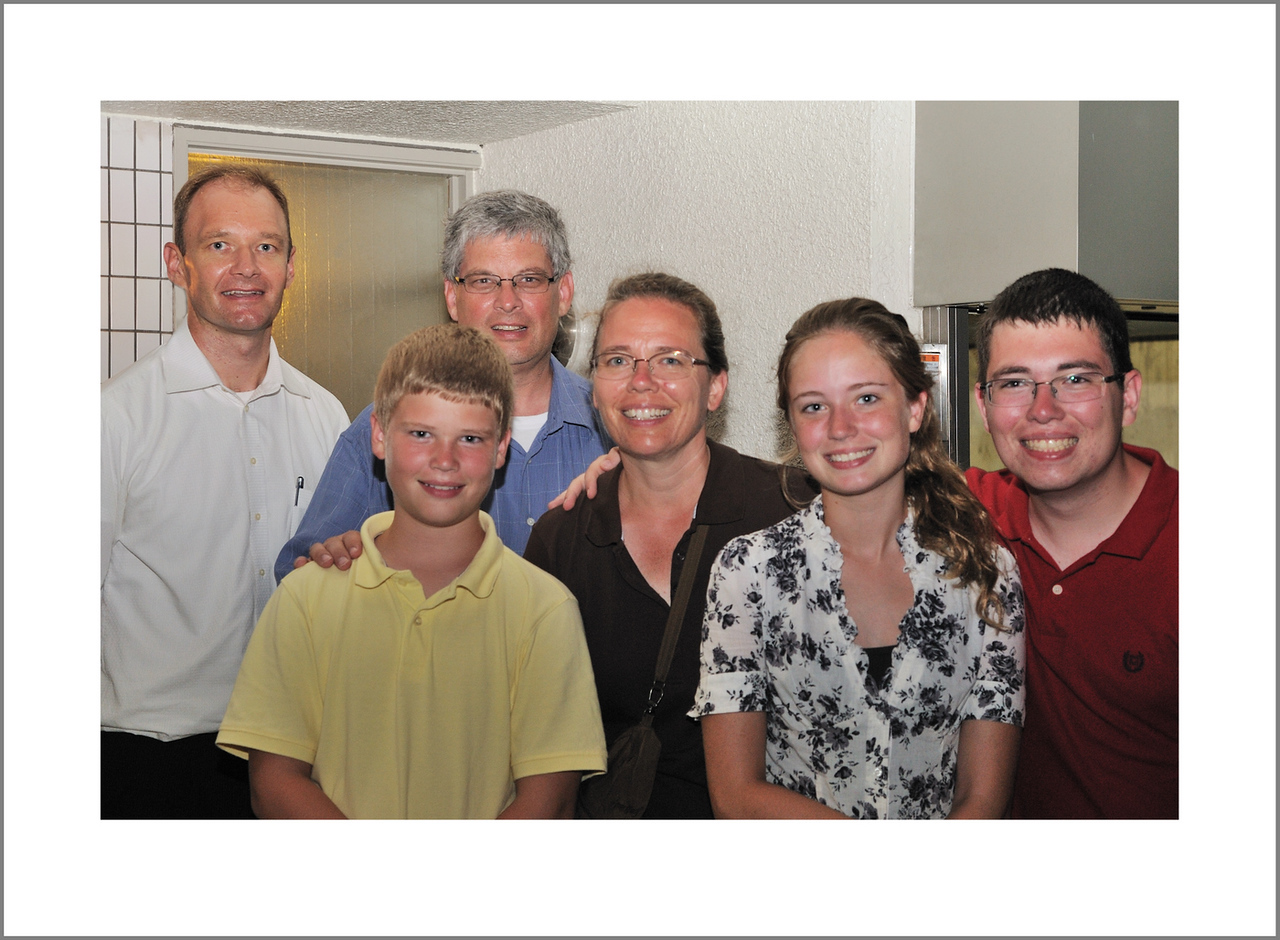 Day 216 Wednesday, August 4<br /> We missed a Tuesday on the plane, but we got two Fridays going, so it evens out. Wednesday evening we had guests from Texas. Dennis and Kristen Swanson with their children, Joseph, Kattie and Peter.