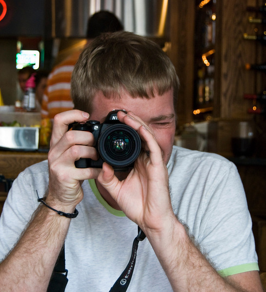 Chris with his D40, Barker's, Hudson, WI.