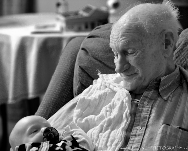 2010 01-17 We made a trip up to see grandpa today.  Two of my favorite people sharing a beautiful moment.  Now that's a beautiful thing.