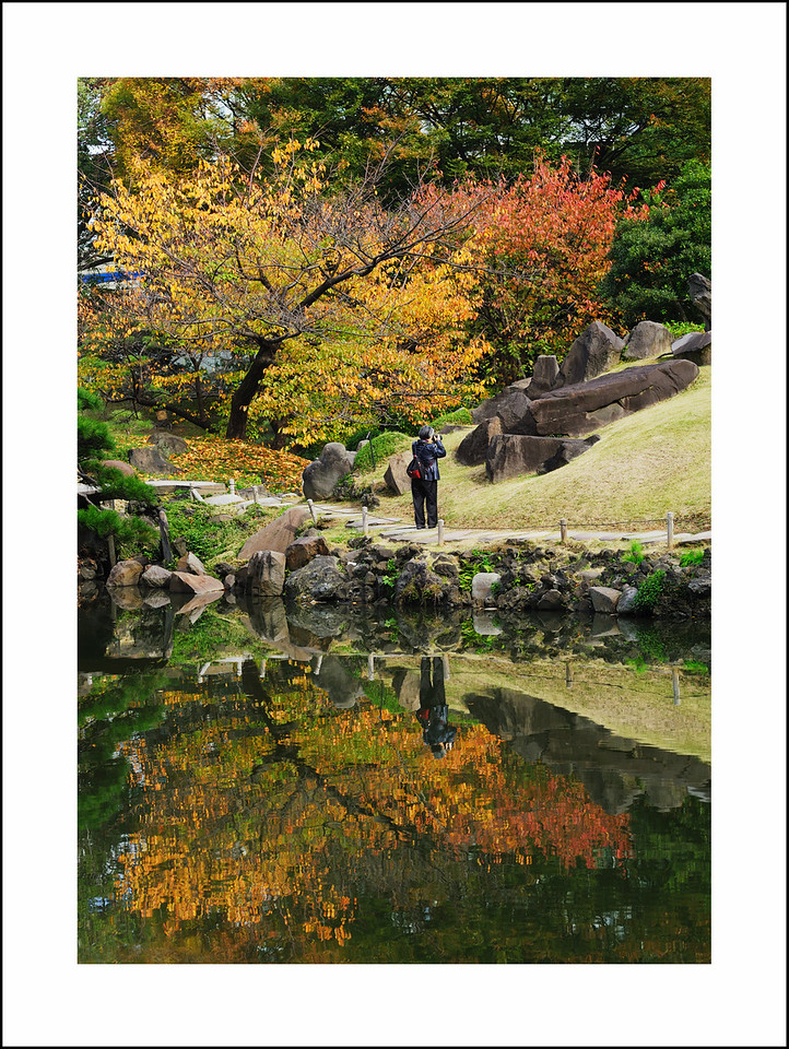 Day 324  Saturday, November 20<br /> Seishi took Baba to see her brother so I had the day to myself.  I took the train to Shiba Rikyu and Hama Rikyu.  The fall colors were at their peak.