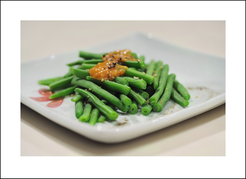 Day 299 Tuesday, October 26<br /> Just some green beans with miso sauce and ground sesame.
