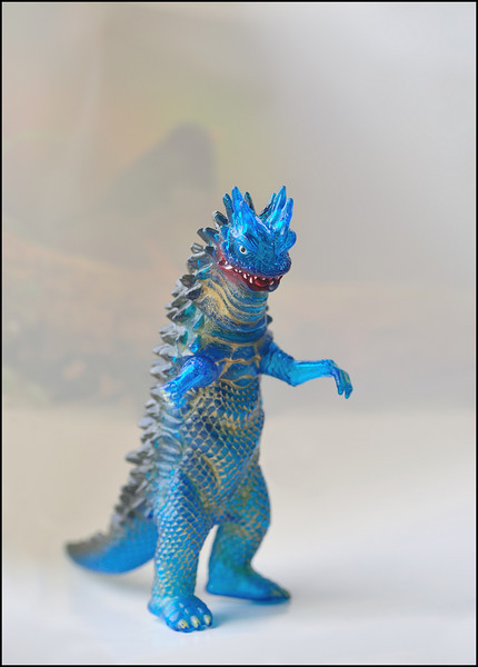 Day 276 Sunday, October 3<br /> Not much time for pictures today. I took a few minutes to set up Montana's toy Godzilla. He forgot it last week, so I will return it to him soon.