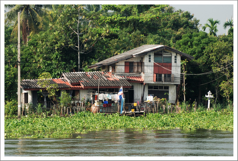 January 10.  On Sunday we caught a river bus back to our hotel after Sunday morning meeting.  This was just one of the many interesting houses that lined the river.