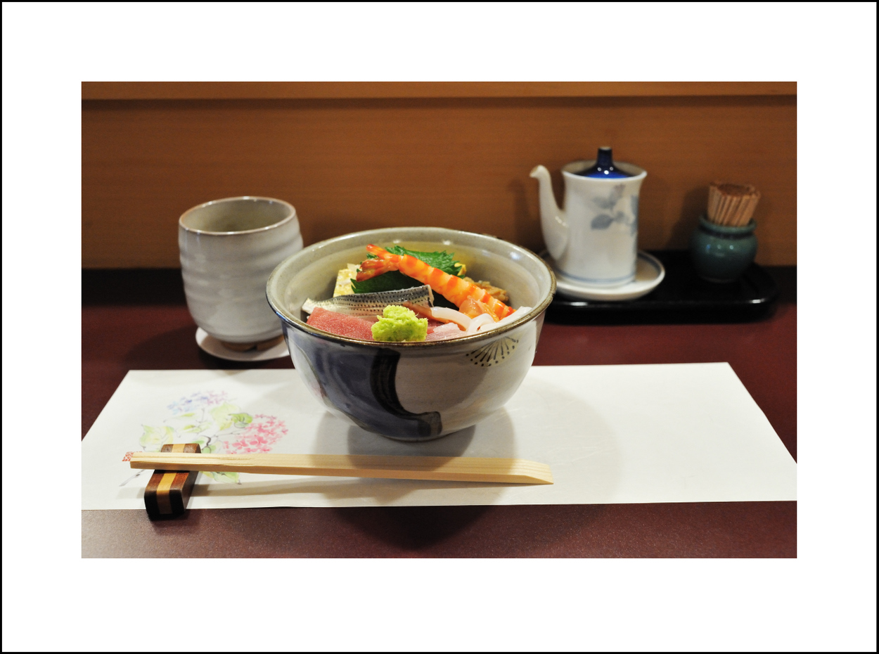 Day 178 June 27<br /> Last week end we were busy, so we celebrated Father's Day today. I took Seishi out to eat to a Sushi place near our house. Seishi ordered ala carte, piece by piece, but I ordered chirashi zushi.